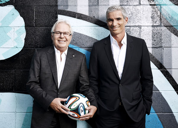Les Murray (football, not poet) with Craig Foster (former footballer, not aquaculture specialist and CEO of Cleanseas Sustainable Seafood)