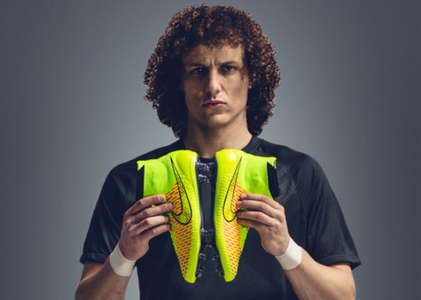 David was confused by his new boots, but still managed to play in the opening game of the 2014 World Cup.