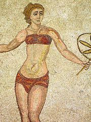 FIFA's antecedents, the Roman Empire, knew all about the value of the bikini in promoting men's sport.
