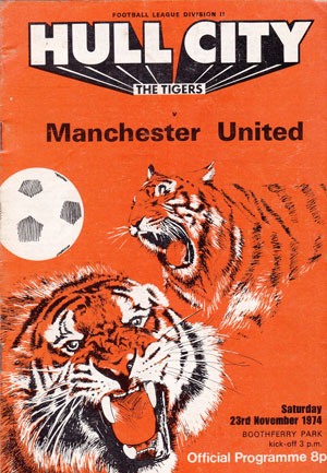 Hull City vs Manchester United – Division 2, 1974