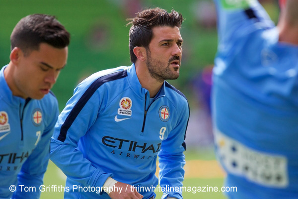 David Villa prepares to feign enthusiasm. © Tom Griffiths Photography