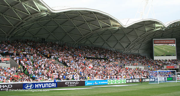 The packed part of the stadium.