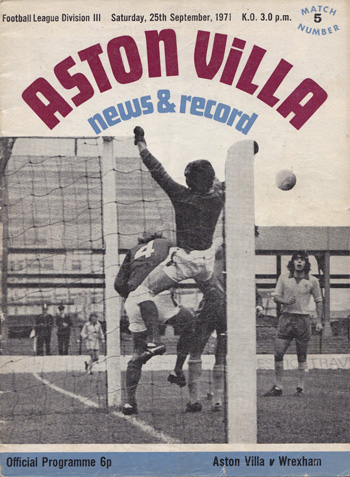 Aston Villa vs Wrexham 1971, Division 3