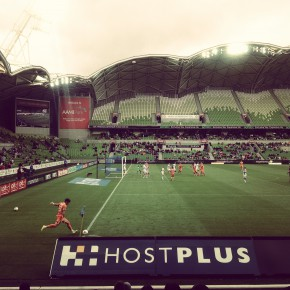 Empty grandstands - must be a Melbourne City home game.