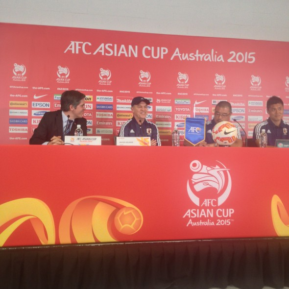 Javier Aguirre at the Japan vs Jordan pre-match press conference