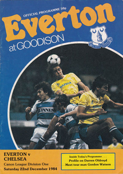 Everton vs Chelsea 1984, Division One