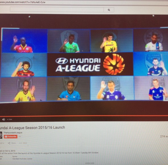 A-League season launch or Google Hangout?