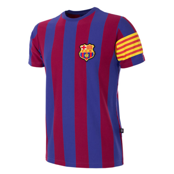 6719 FC Barcelona Retro Captain T-shirt 1